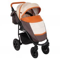 Прогулочная коляска Prampol Panda NEW, цвет: коричневый/бежевый/карамель