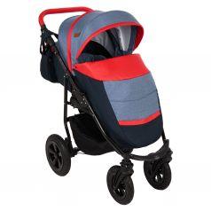 Прогулочная коляска Prampol Panda NEW, цвет: темно-синий/синий/красный