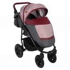 Прогулочная коляска Prampol Panda NEW, цвет: темно-серый/бордовый