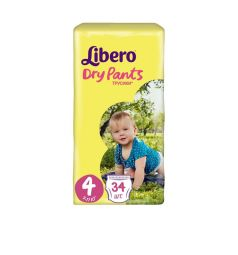 Трусики-подгузники Libero Dry Pants Size 4 (7-11 кг) 34 шт.