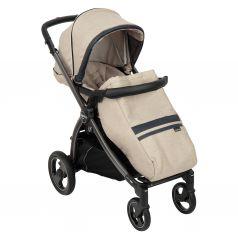 Прогулочная коляска Peg-Perego Book Plus S Pop Up с шасси Book Titania, цвет: luxe ecru