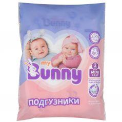 Подгузники My Bunny с канальцами Mini (3-6 кг) 2 шт.