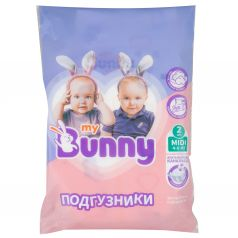 Подгузники My Bunny с канальцами Midi (4-9 кг) 2 шт.
