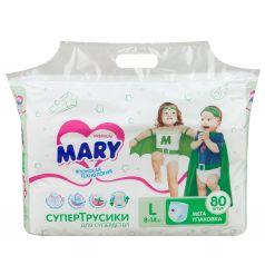 Трусики-подгузники Mary р. L (8-14 кг) 80 шт.