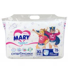 Трусики-подгузники Mary р. XL (11-18 кг) 76 шт.
