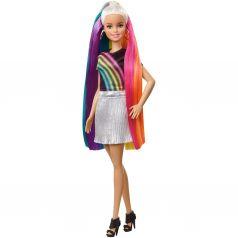 Кукла Barbie Блондинка с радужными волосами