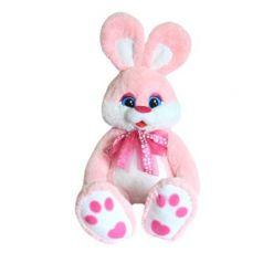 Мягкая игрушка СмолТойс Зайка розовый 100 см