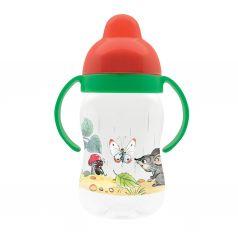 Поильник-непроливайка Lubby Сказки В.Сутеева с твердым носиком, с 6 месяцев, цвет: зеленый/красный