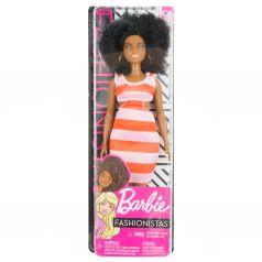 Кукла Barbie Игра с модой Темнокожая в полосатом платье