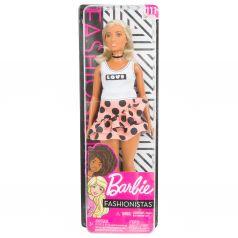 Кукла Barbie Игра с модой Юбка в горох белый топ