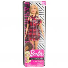 Кукла Barbie Игра с модой Красное платье в клетку