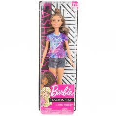 Кукла Barbie Игра с модой Серые шорты разноцветная футболка