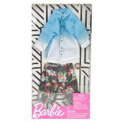 Одежда для кукол Barbie Джинсовая рубашка шорты с цветами