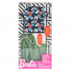 Одежда для кукол Barbie Зеленые штаны разноцветная футболка