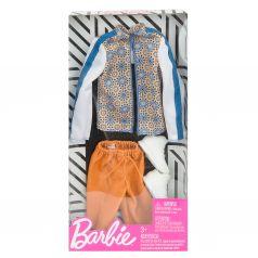 Одежда для кукол Barbie Оранжевые штаны бело-синяя кофта