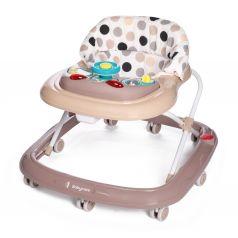 Ходунки BabyCare Flip, цвет: бежевый/точки