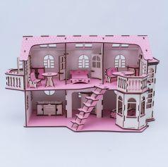 Iwoodplay, Дом кукольный с эркерами, со светом