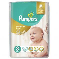 Подгузники Pampers Premium Care 3 размер (5-9 кг) 20 шт.