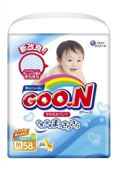 Подгузники-трусики Goon M для девочек (7-12 кг) 58 шт.