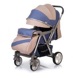 Прогулочная коляска BabyHit Sense, цвет: джинс/бежевый