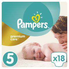 Подгузники Pampers Premium Care 5 размер (11-18 кг) 18 шт.