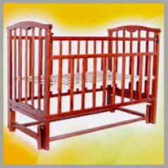 Кровать-качалка Агат Золушка 5, цвет: вишня