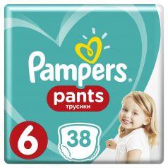 Трусики-подгузники Pampers Pants р. 6 (15+ кг) 38 шт.