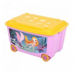 Ящик для игрушек Бытпласт Том и Джерри, цвет: сиреневый
