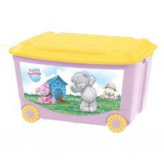 Ящик для игрушек Бытпласт Me to You, цвет: розовый
