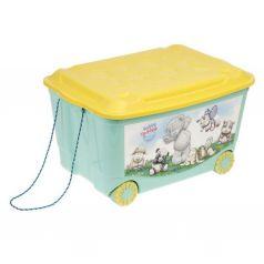 Ящик для игрушек Бытпласт Me to You, цвет: зеленый