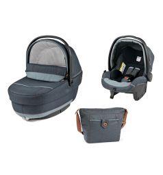 Набор для трансформации Peg-Perego Люлька Navetta XL + автоклесло Primo Viaggio Tri-Fix + сумка Borsa, цвет: синий