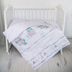 Комплект постельного белья Baby Nice Игрушки, цвет: белый 3 предмета наволочка 60 х 40 см