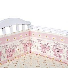 Борт Baby Nice Слоненок, цвет: розовый 4 предмета бортик 2 шт 120 х 35 см