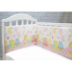 Борт Baby Nice Звездопад, цвет: розовый 4 предмета бортик 2 шт 120 х 35 см