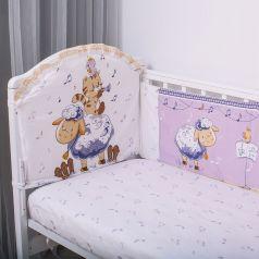 Борт Baby Nice Овечка, цвет: синий бортик 2 шт 120х35 см