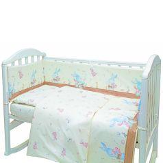 Комплект постельного белья Baby Nice Зайчики, цвет: бежевый 6 предметов одеяло 105 х 140 см