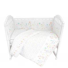 Комплект постельного белья Baby Nice Саванна, цвет: белый 6 предметов одеяло 105 х 140 см