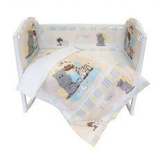 Комплект постельного белья Baby Nice Лучшие друзья, цвет: бежевый 6 предметов подушка 40 х 60 см