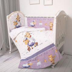 Комплект постельного белья Baby Nice Овечка, цвет: синий 6 предметов подушка 40 х 60 см
