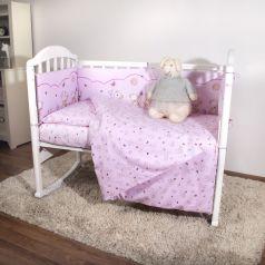 Комплект постельного белья Baby Nice Мишки, цвет: розовый 6 предметов одеяло 105 х 140 см