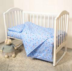 Комплект постельного белья Baby Nice Мишки, цвет: голубой 6 предметов одеяло 105 х 140 см