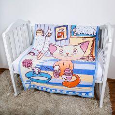 Baby Nice Одеяло байковое Кот на кухне 100 х 140 см