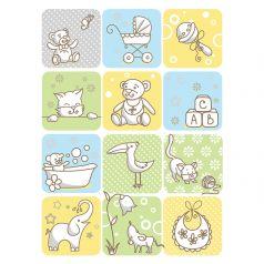 Baby Nice Одеяло байковое Веселые картинки 85 х 15 см