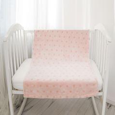 Плед Baby Nice Горох 75 х 100 см, цвет: розовый