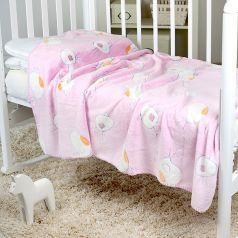 Плед Baby Nice Птичка 100 х 150 см, цвет: розовый