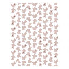 Плед Baby Nice Мишки на белом 100 х 118 см, цвет: розовый