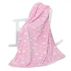 Плед Baby Nice Облака 100 х 140 см, цвет: розовый
