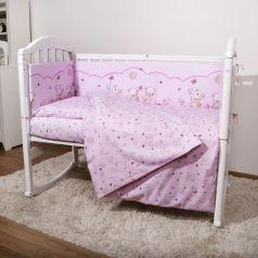 Борт Baby Nice Мишки, цвет: розовый 4 предмета бортик 2 шт 120 х 35 см