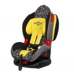 Автокресло Siger Кокон Disney Винни Пух, цвет: желтый/кружки