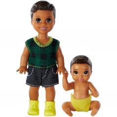 Кукла Barbie Братья и сестры с малышом в желтом подгузнике